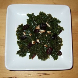 Warm Kale Salad with Dried Cherries